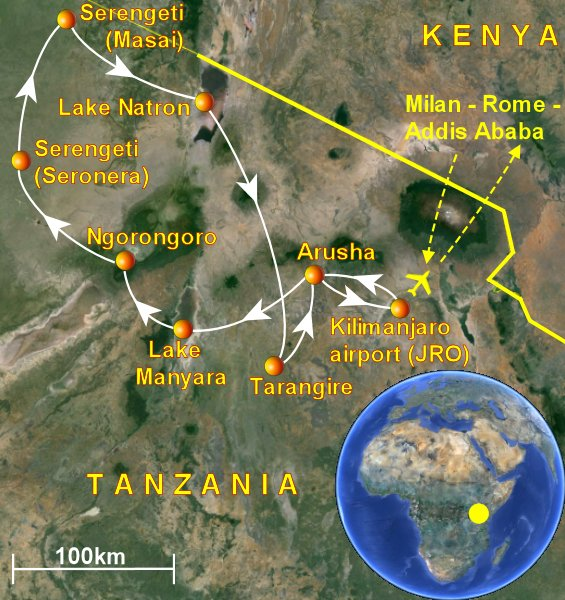 Suggested safari itinerary in Tanzania